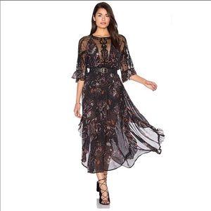 Free People Spirit of the Wild Boho Maxi Dress 🦋